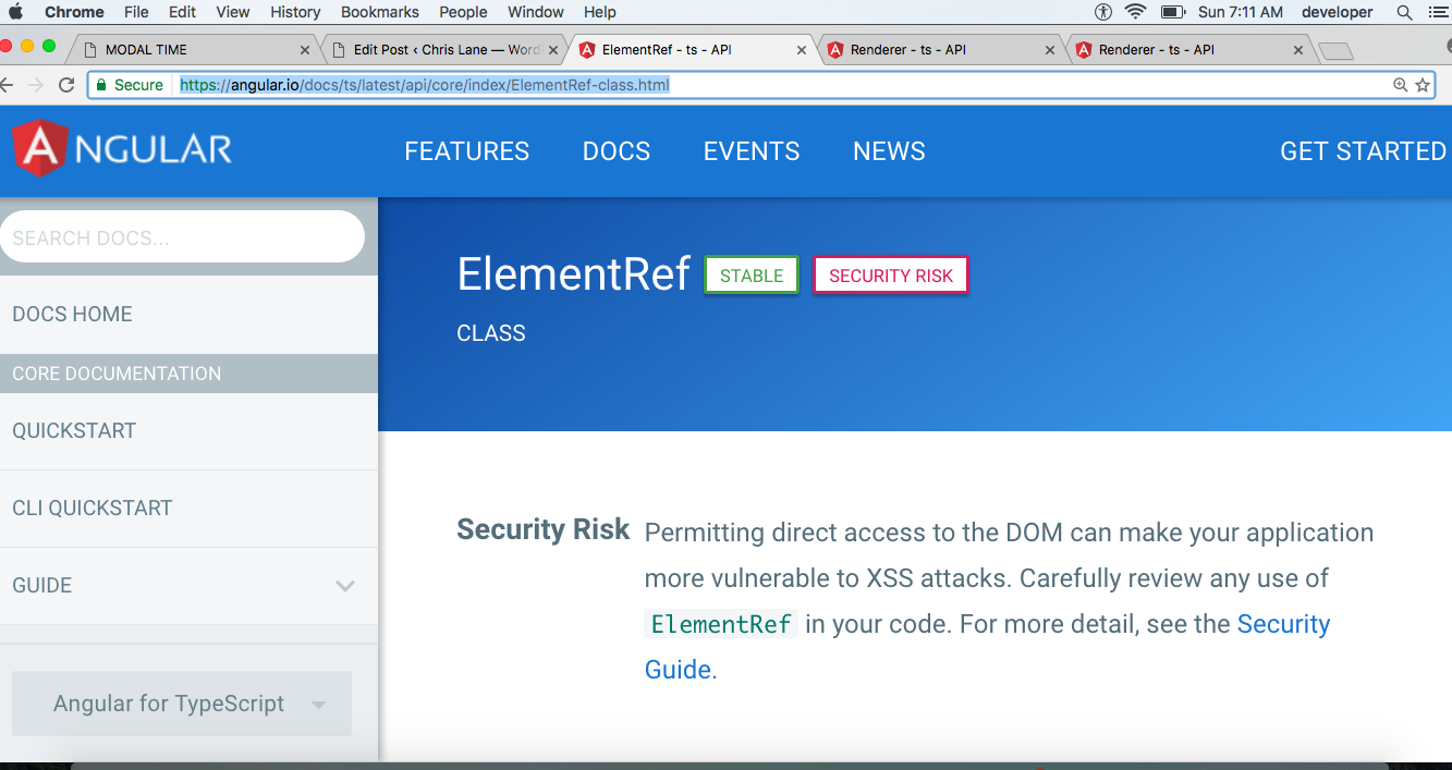 Elementref is stable but also a security risk