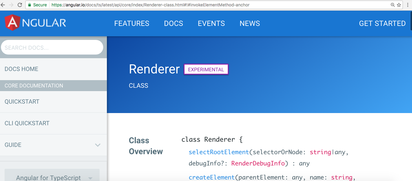 Renderer is experimental at this time